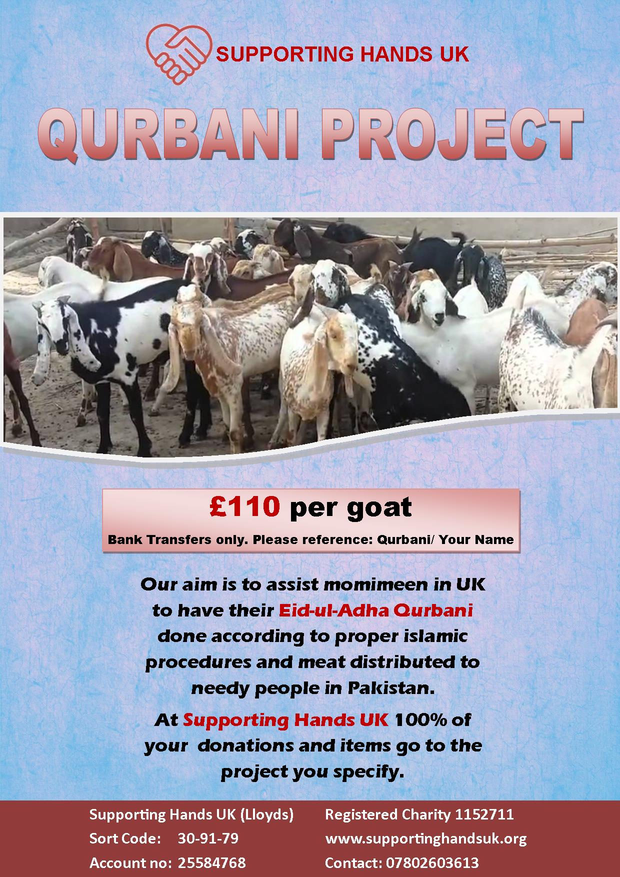 Eid-Al Adha Qurbani 2016 – SupportingHandsUK